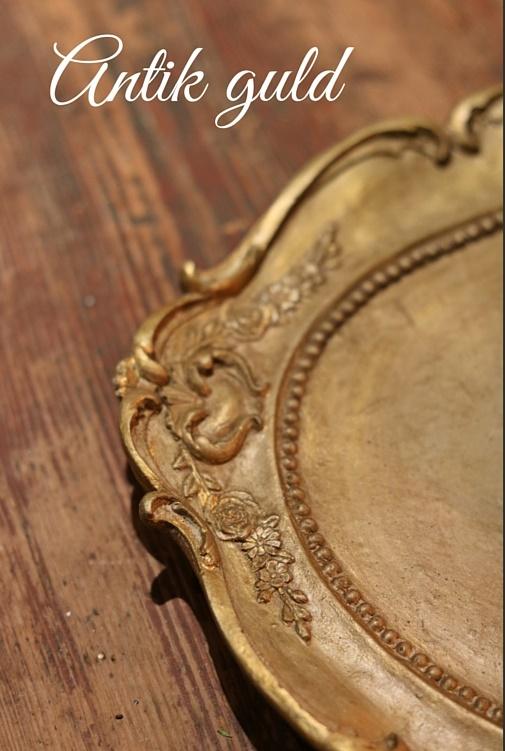 Betongfat antik guld